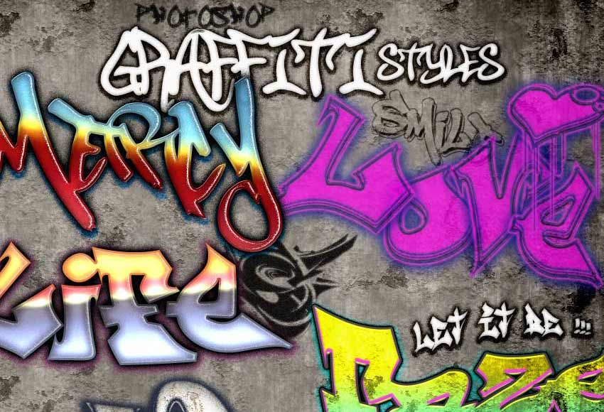 efek teks grafiti GraphicRiver