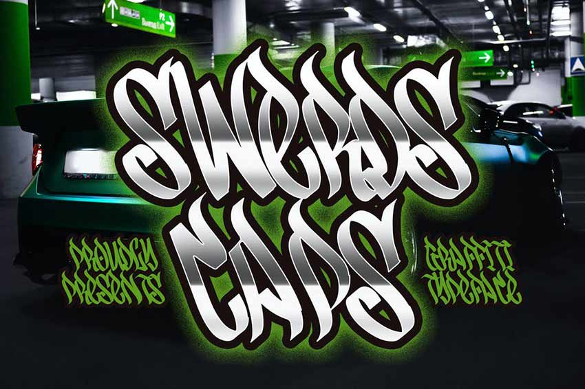 Swerds Caps - Graffiti Style Typeface