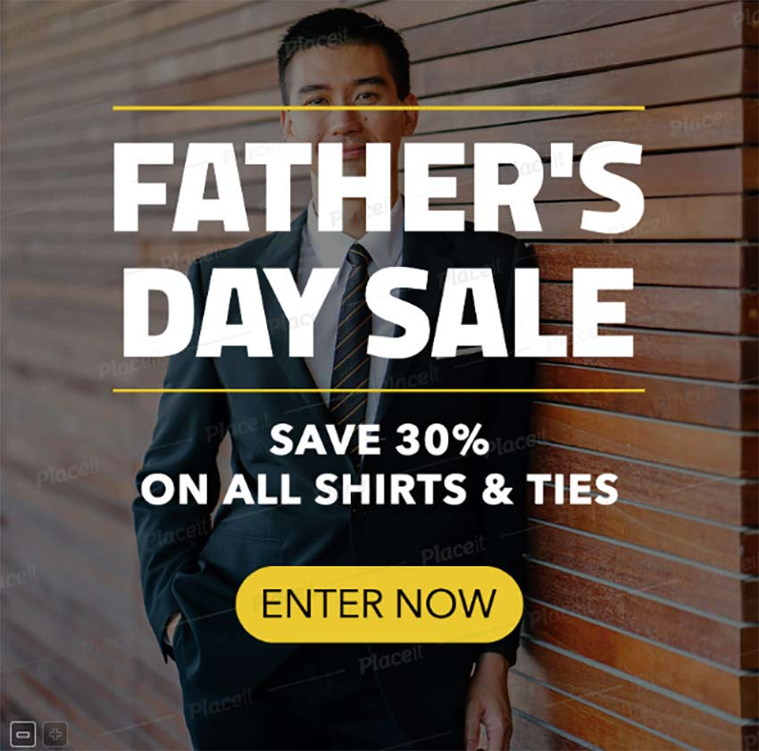 Banner Maker for a Fathers Day Sale