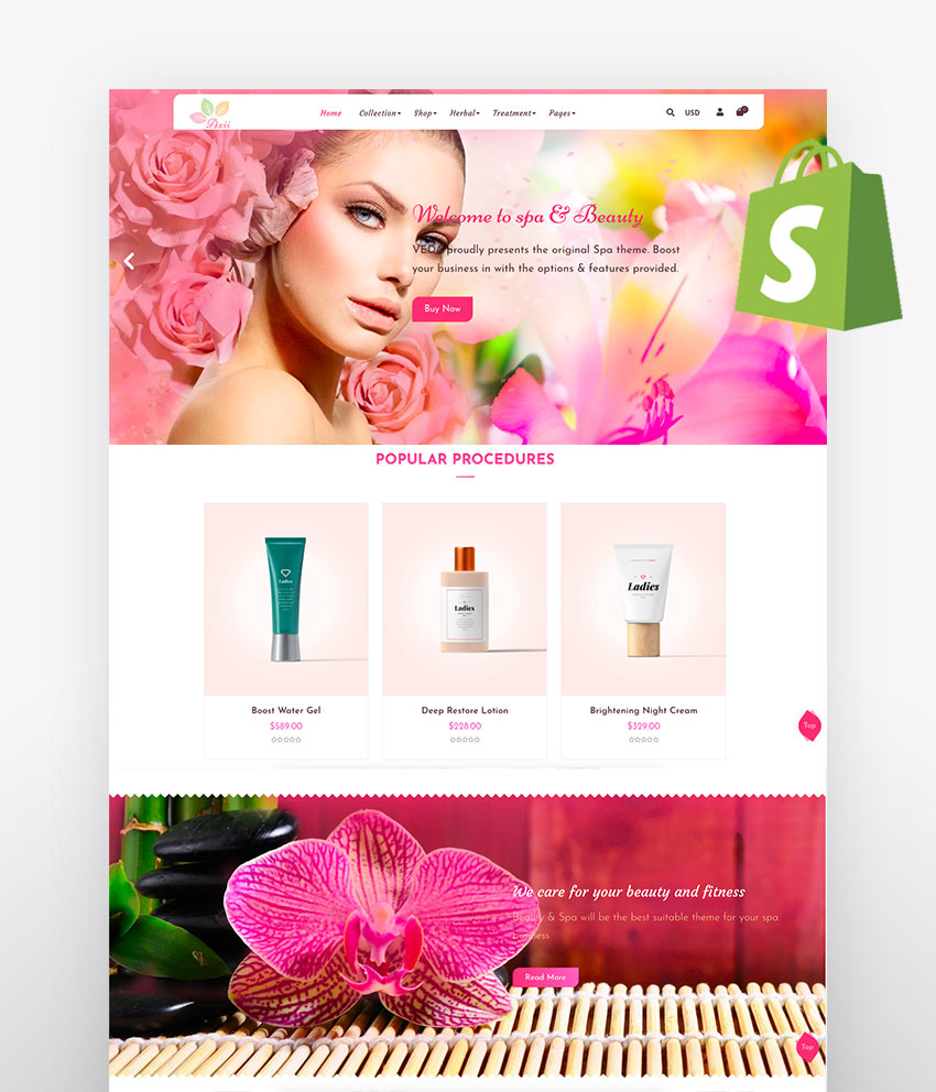 Axii - Beauty Spa Shopify Theme