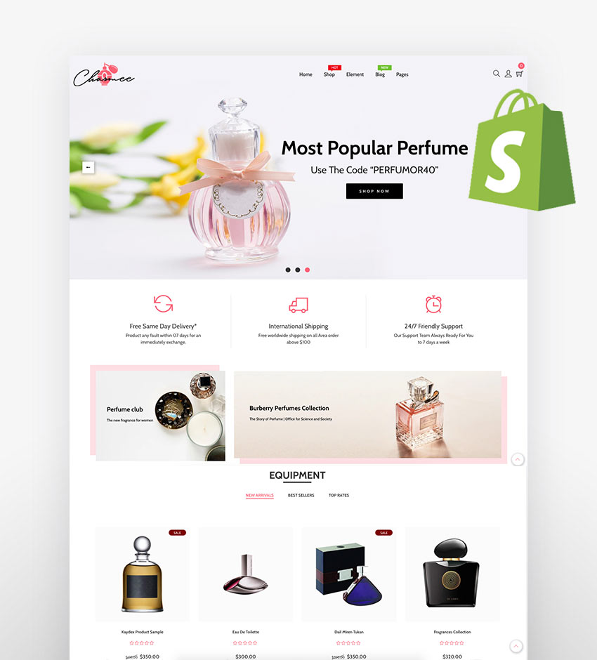 Charmee - Perfume And Cosmetics Shopify Theme