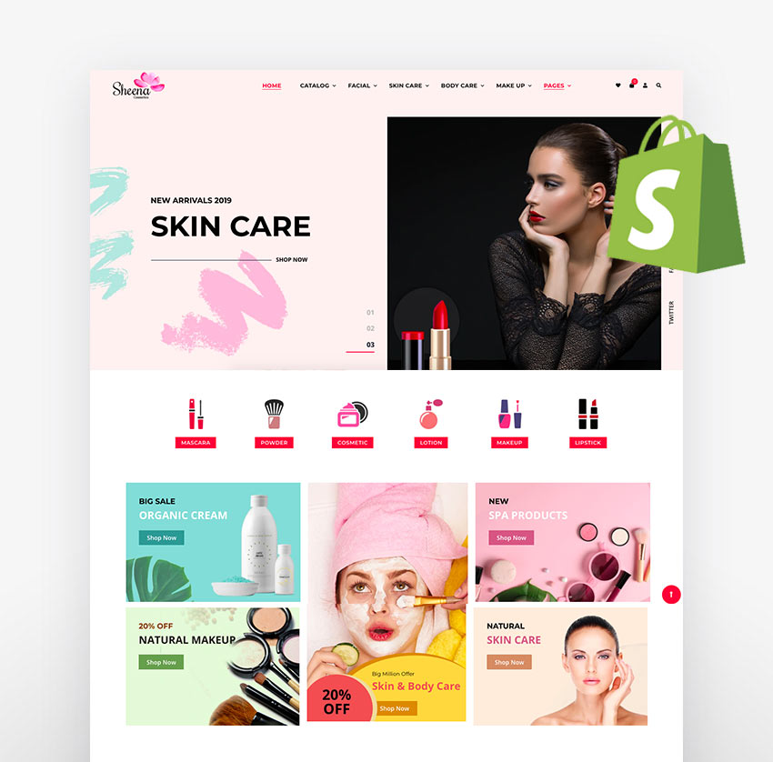 Sheena - Cosmetics Shopify Theme
