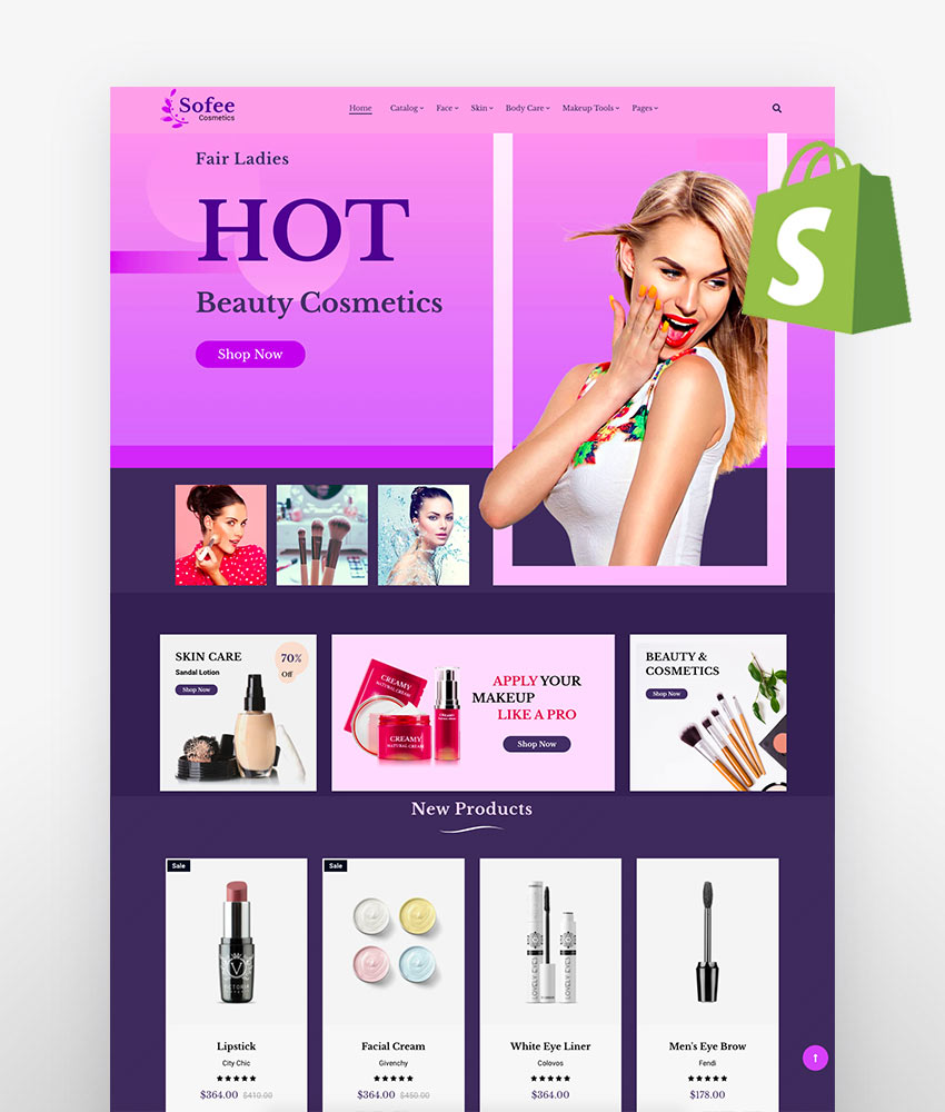 20 Best Shopify Themes For Beauty And Cosmetics Stores