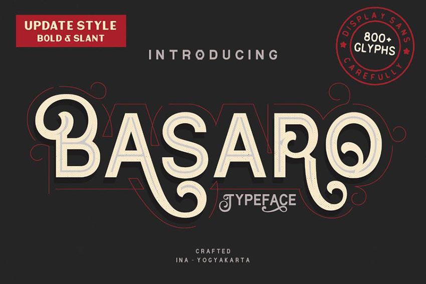 Basaro Swash Font