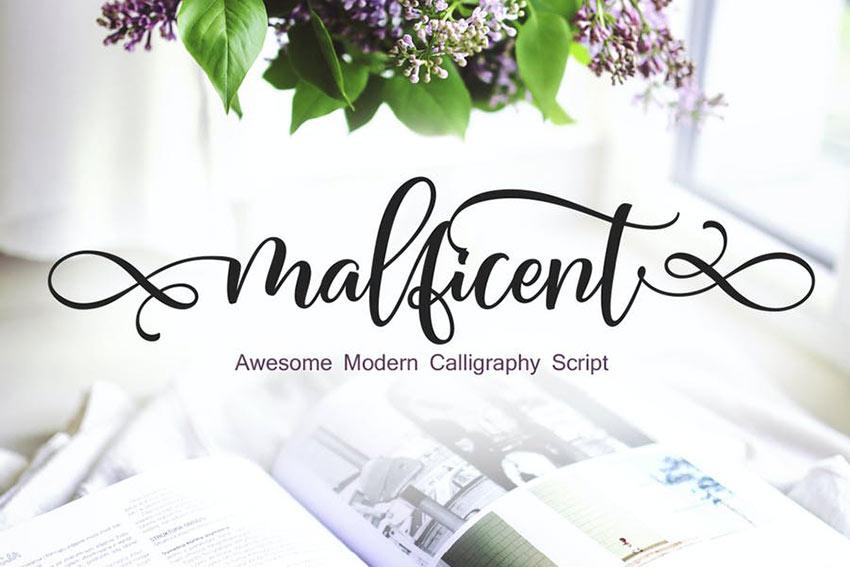 Malficent - Script Font