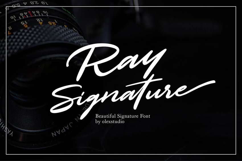 Ray Signature Font