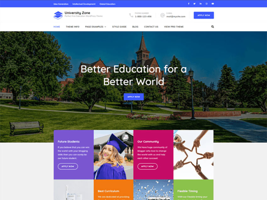 University Zone Free WordPress LMS Theme