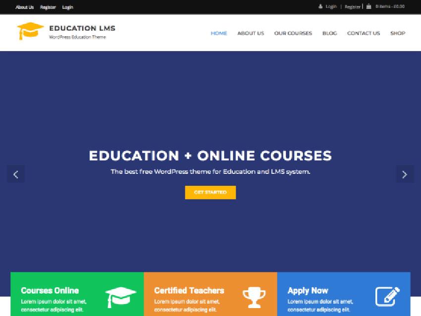 Education Free WordPress LMS Theme