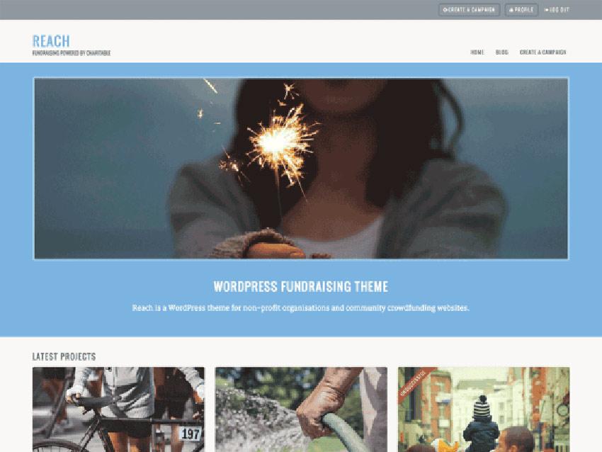 Reach Free WordPress Crowdfunding Theme