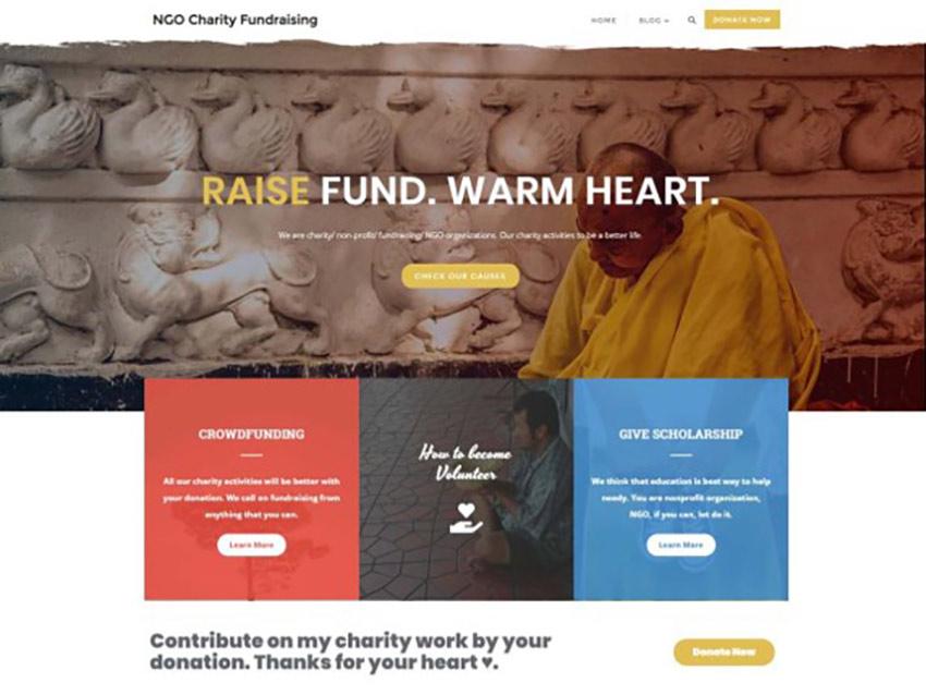 NGO Charity Fundraising Free WordPress Crowdfunding Theme