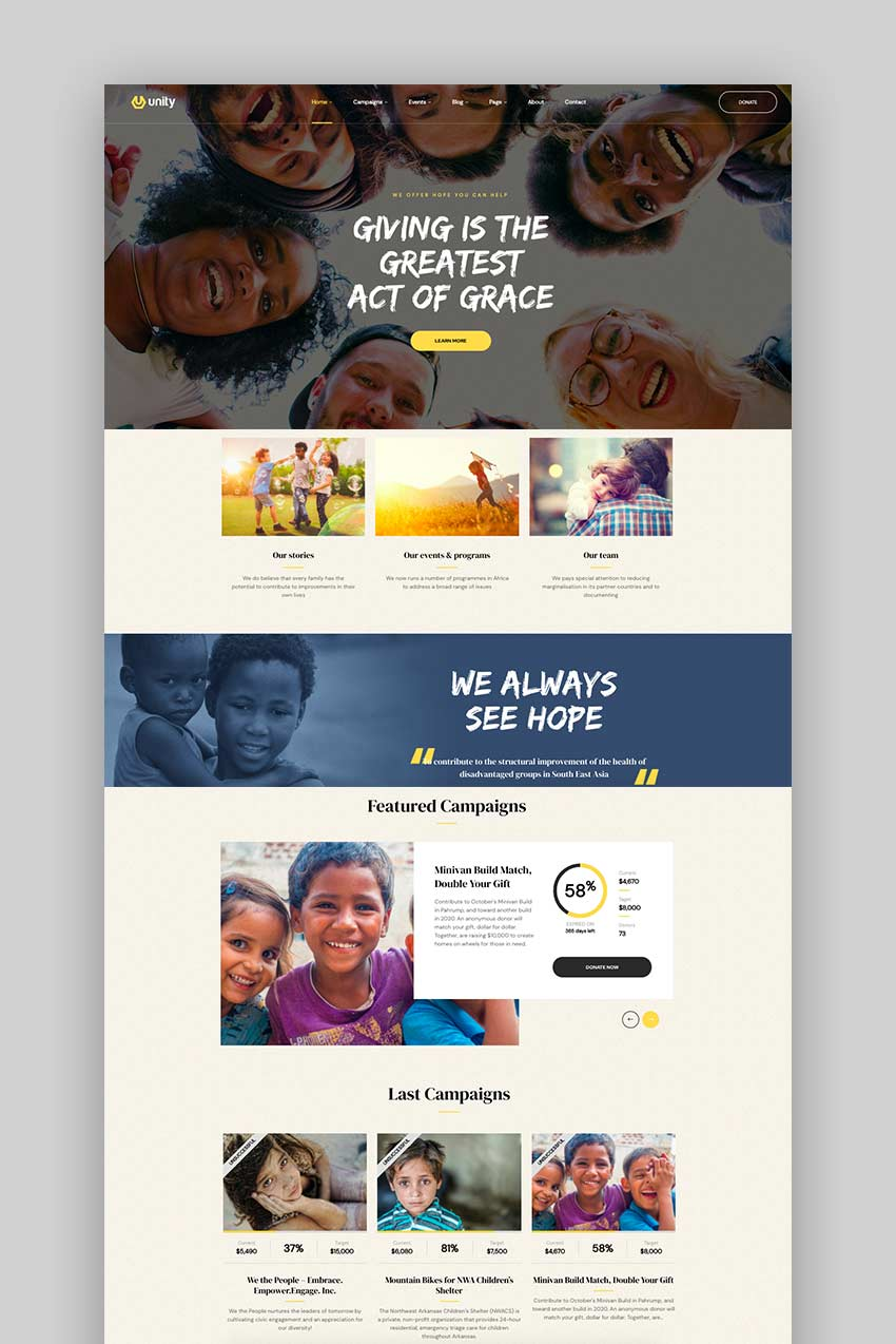 Unity - WordPress Crowdfunding Theme