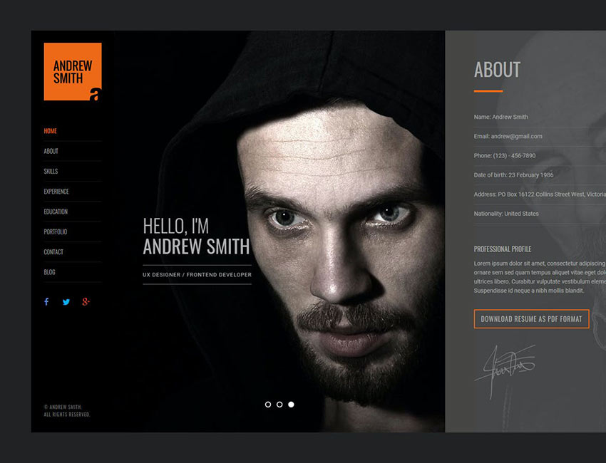 MEE - Responsive Resume HTML and Portfolio Template