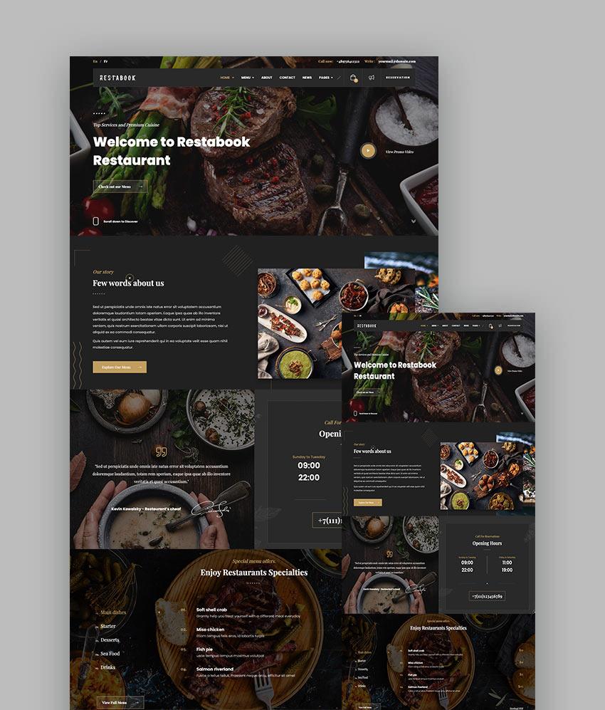 Restabook - Restaurant HTML Template