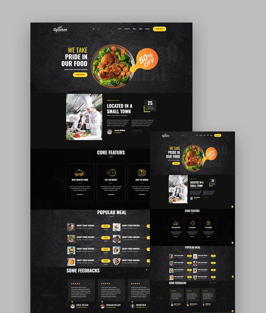 The Signature - Restaurant HTML Template