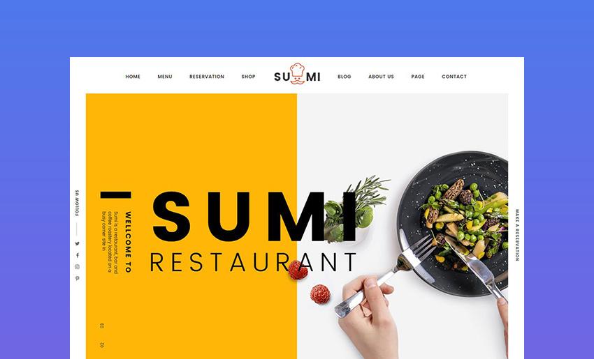 Sumi Restaurant HTML Template