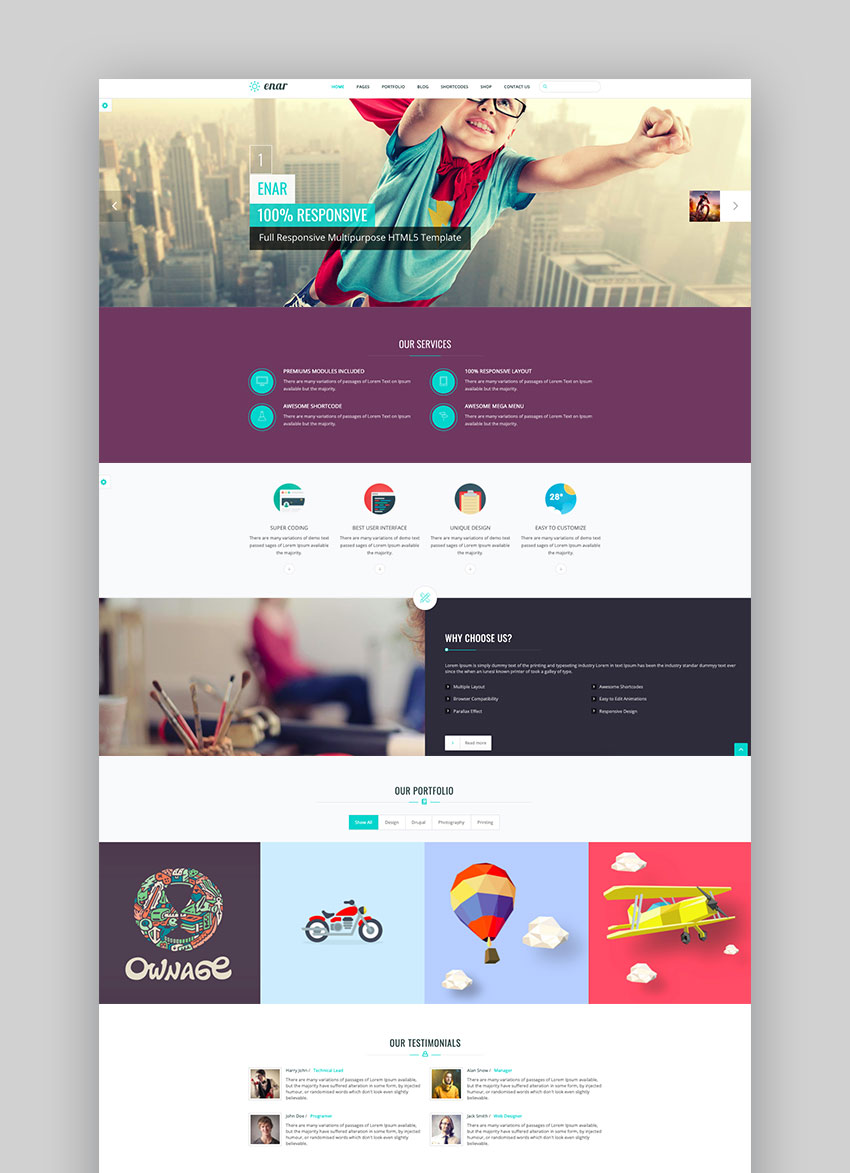 Enar - Multipurpose Drupal 9 Theme