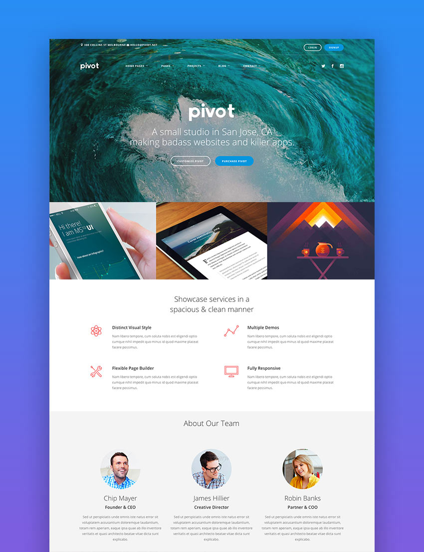 Pivot - Drupal 8 Multipurpose Theme