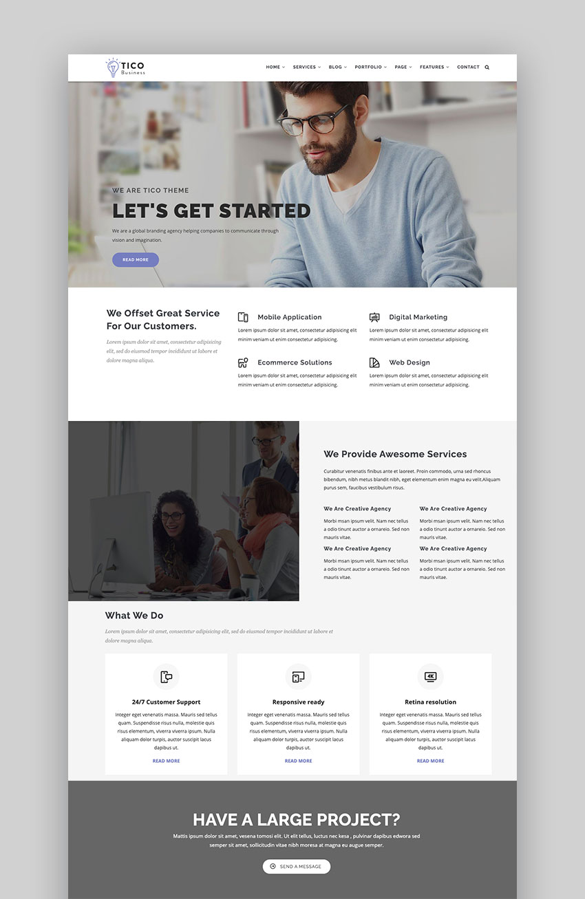 Tico - Responsive Business Drupal 9 Theme