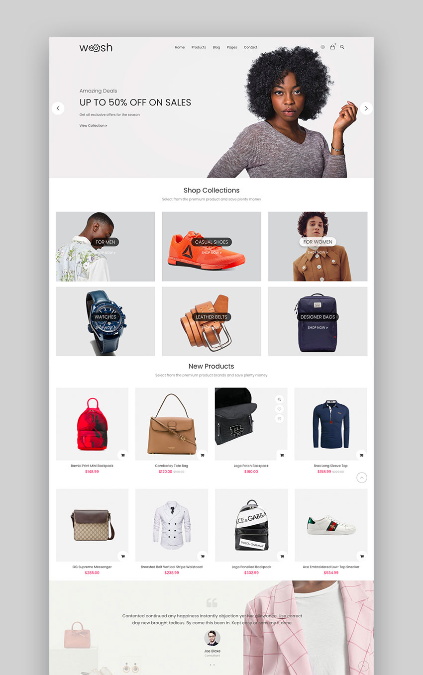 Wosh Drupal 9 Commerce Theme