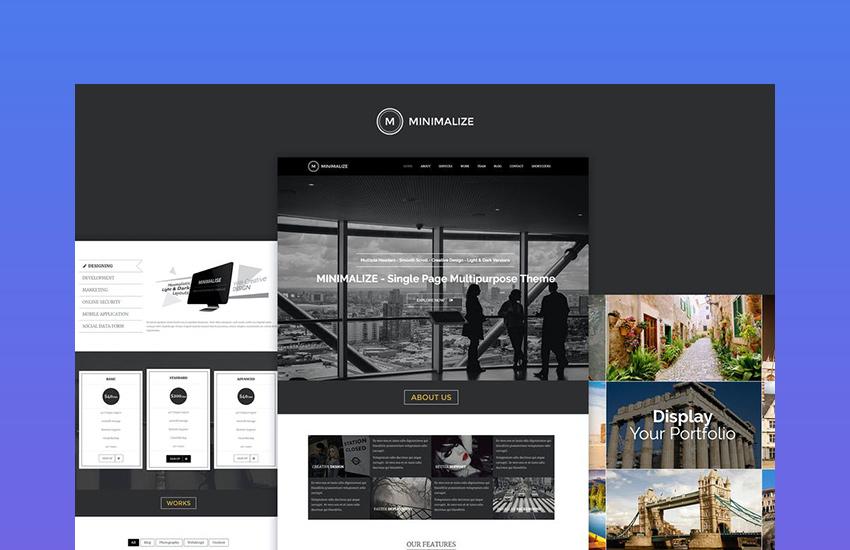 Minimalize - Minimal Multipurpose OnePage Template
