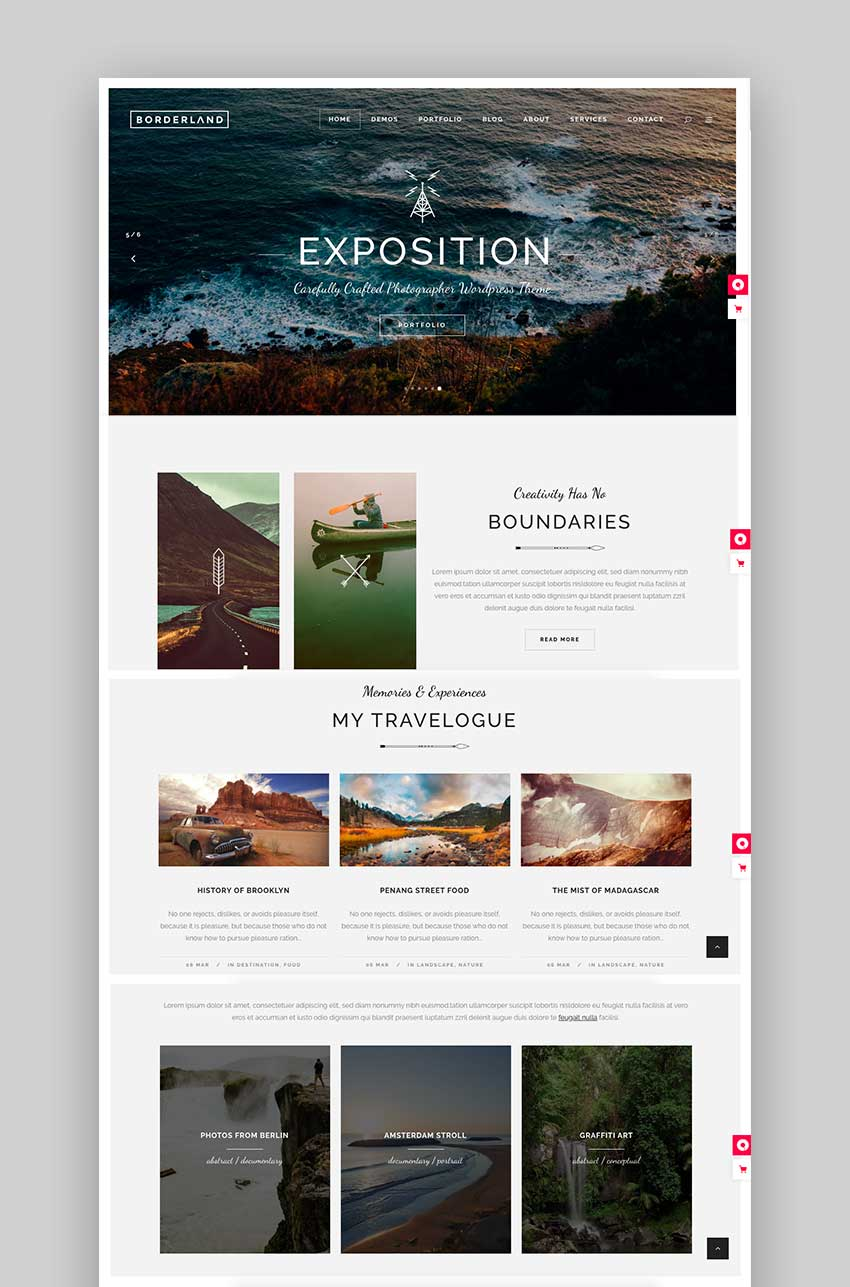 Borderland - Multipurpose Vintage Theme