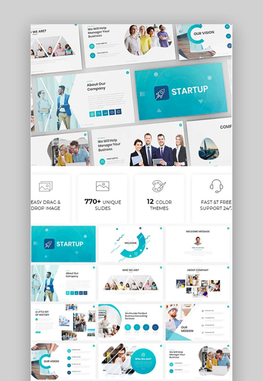 Simple  Modern Business Powerpoint Template