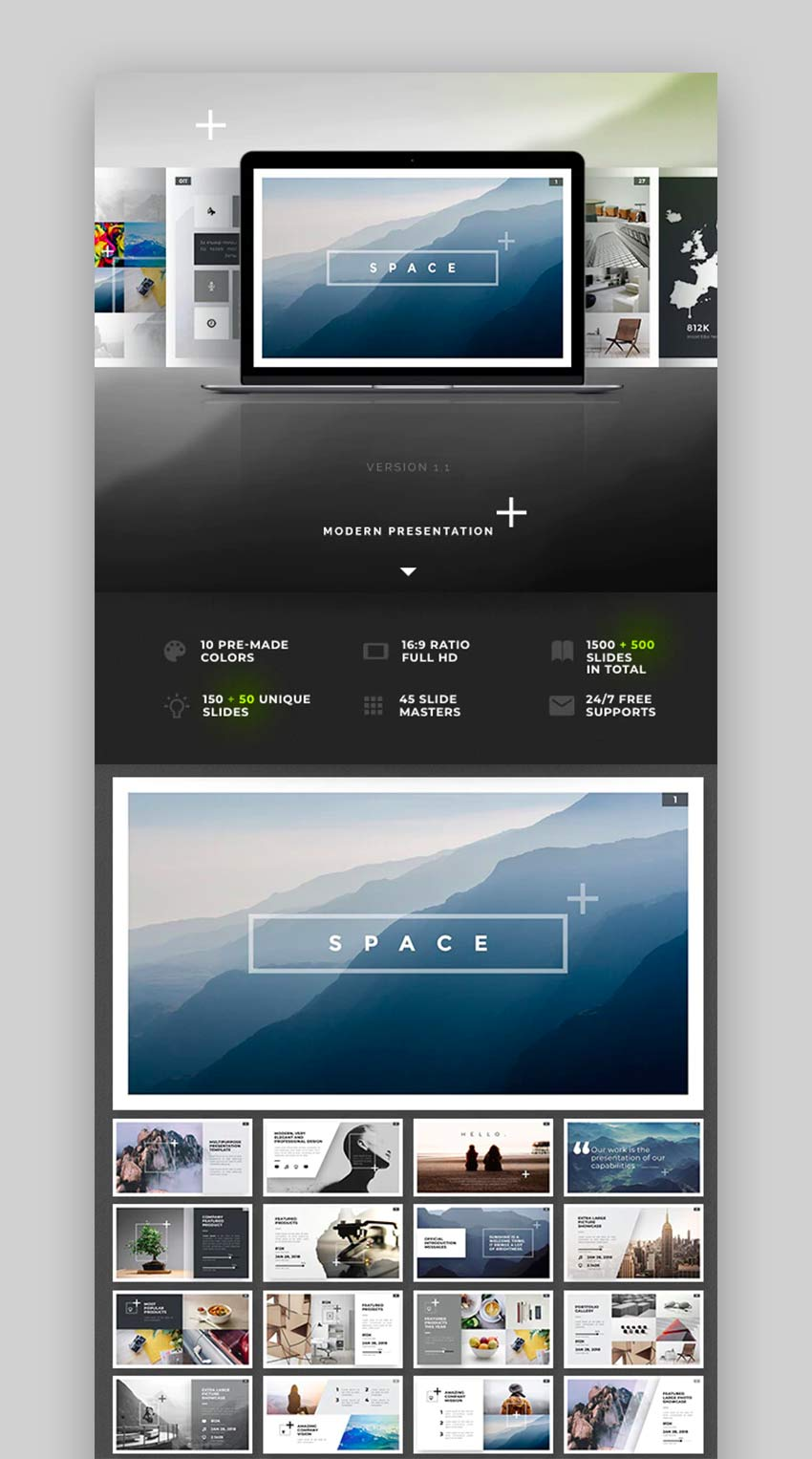 Space PowerPoint Template Design