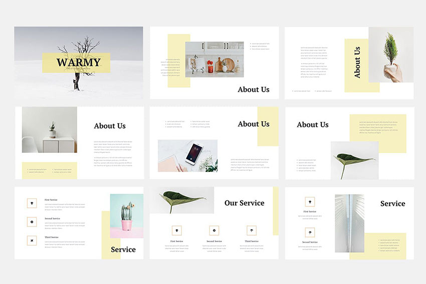 Warmy - Minimalist Powerpoint Template