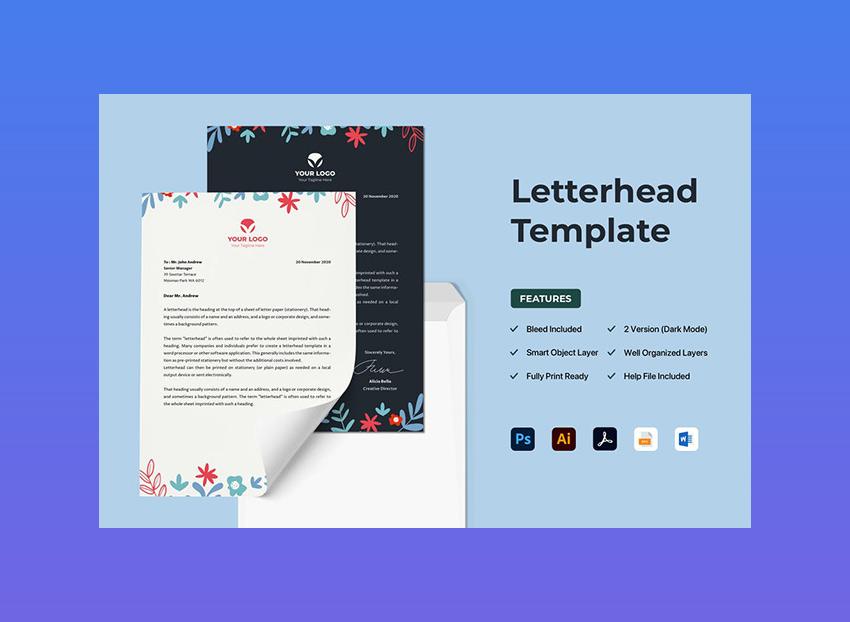 20 Best Free Microsoft Word Corporate Letterhead Templates