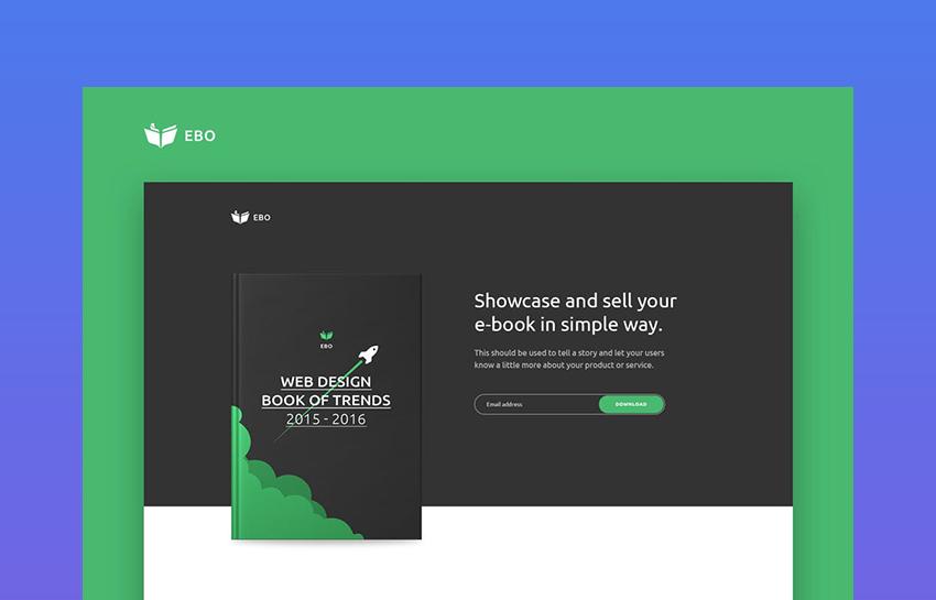 Ebo - Ebook Landing Page HTML Template