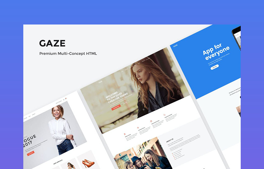 Gaze - Multipurpose Landing Page Template