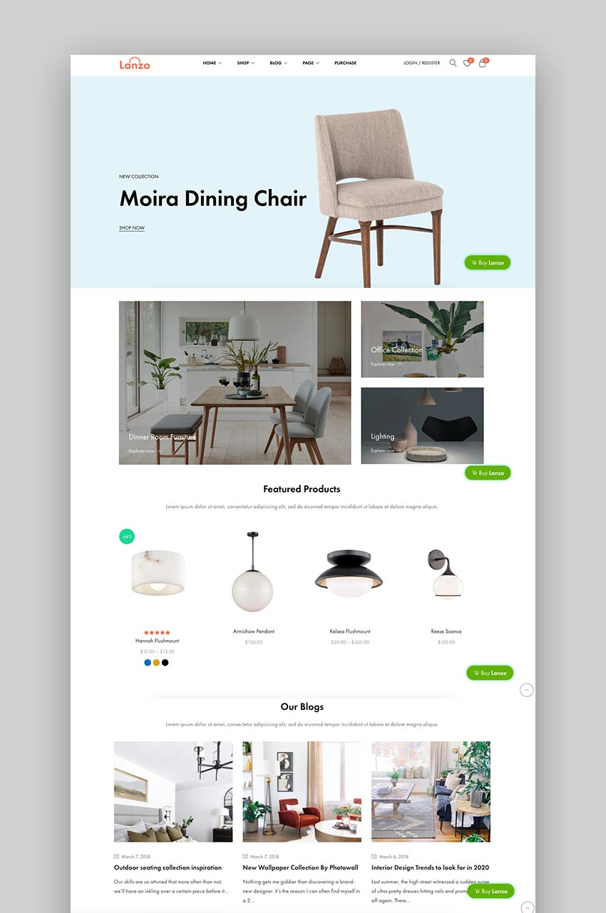 Lanzo - Gutenberg WooCommerce WordPress Theme