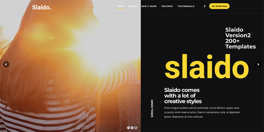 Slaido - Template Pack for Slider Revolution WordPress Plugin
