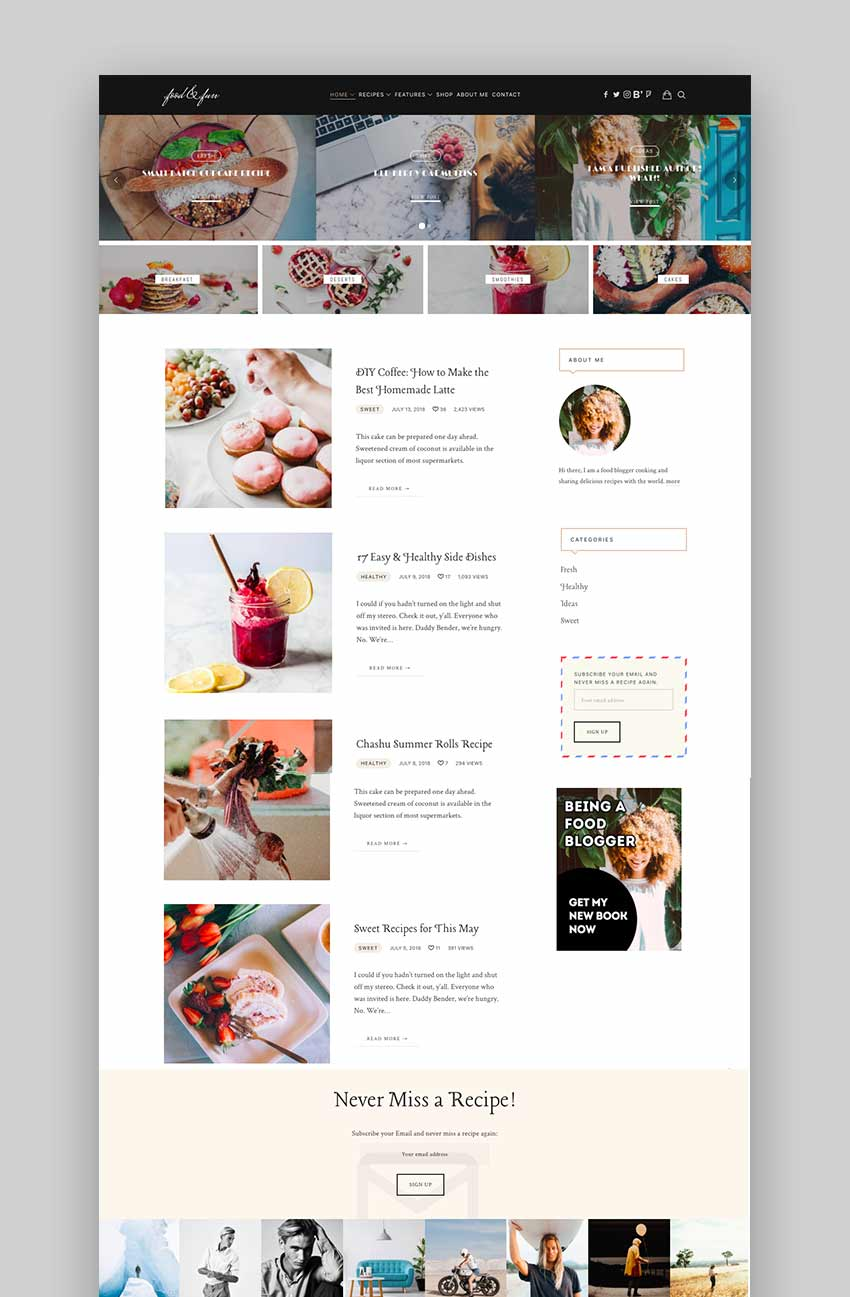 Lahanna - Food Blog WordPress Theme