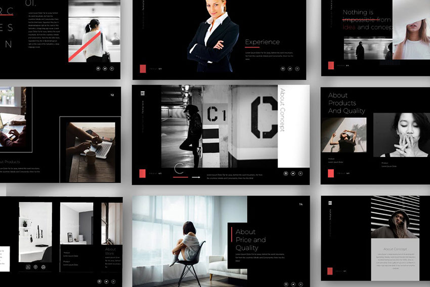 Passion Black Powerpoint