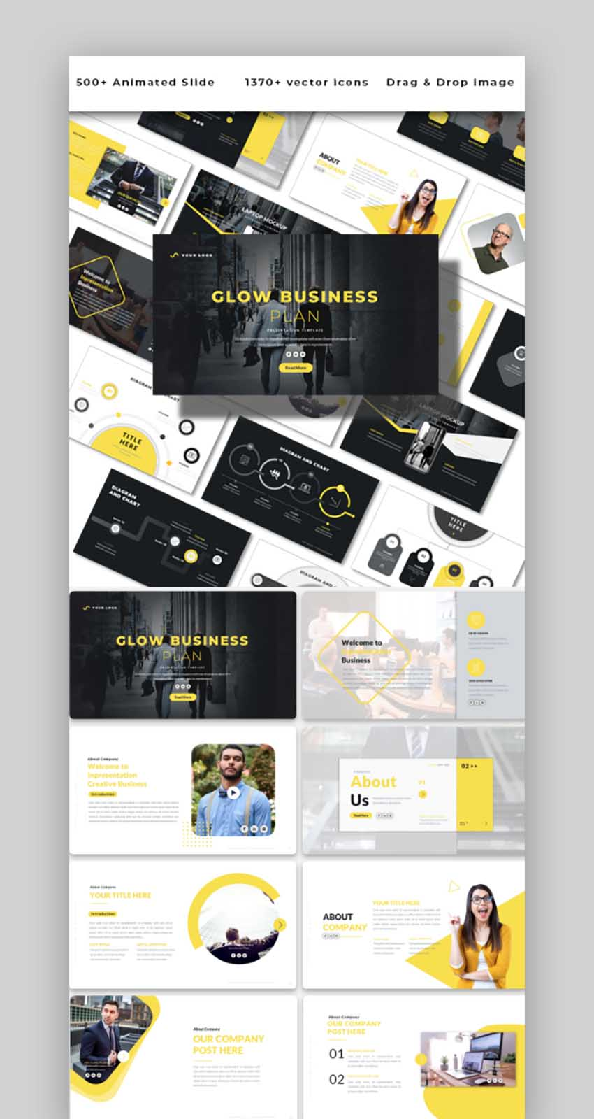 Glow Business Plan - Powerpoint Template