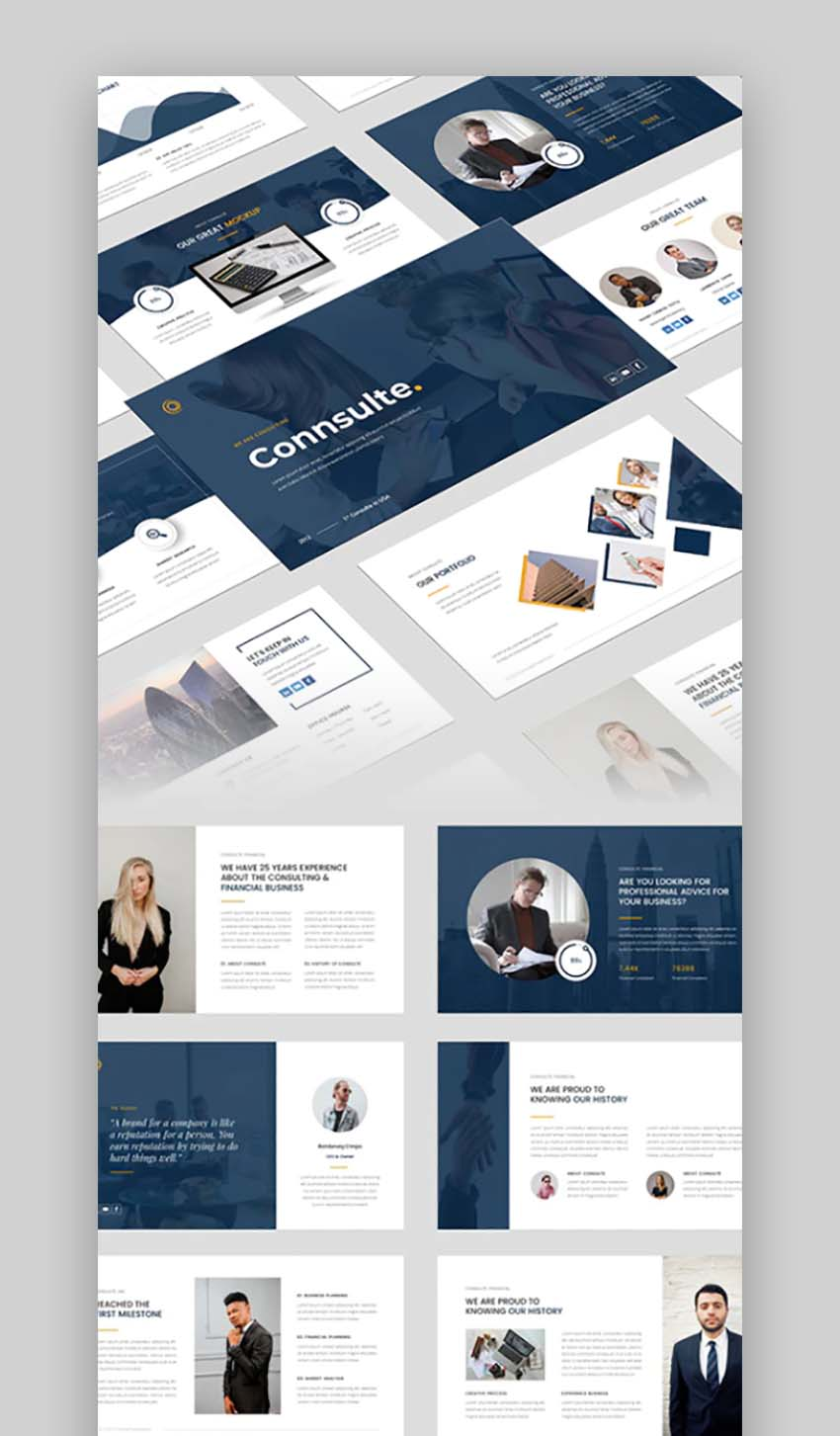 Consulte - Consulting  Finance PowerPoint Template