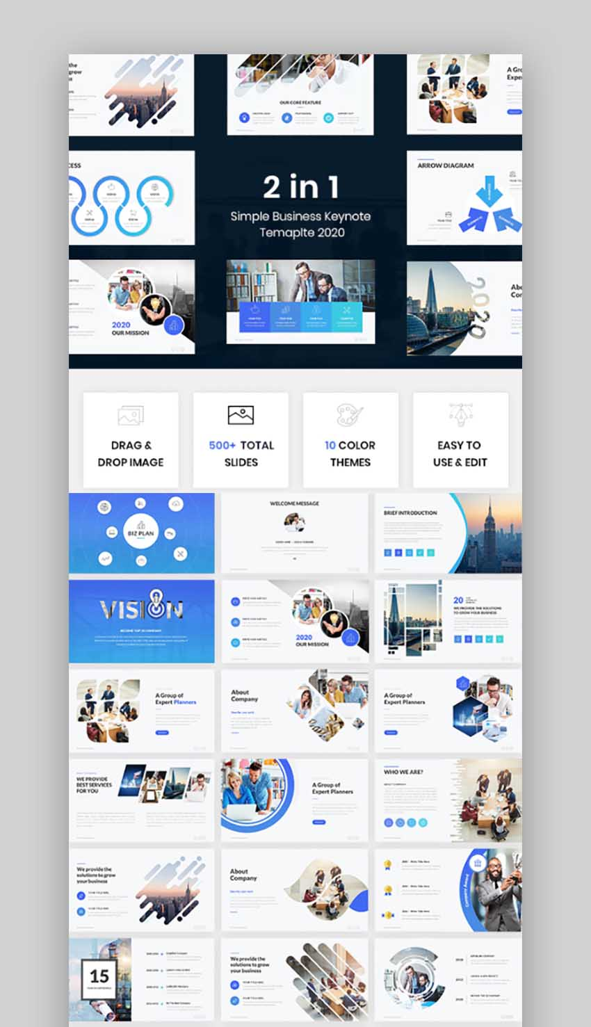 Bundle 2 in 1 Simple Business Keynote Template