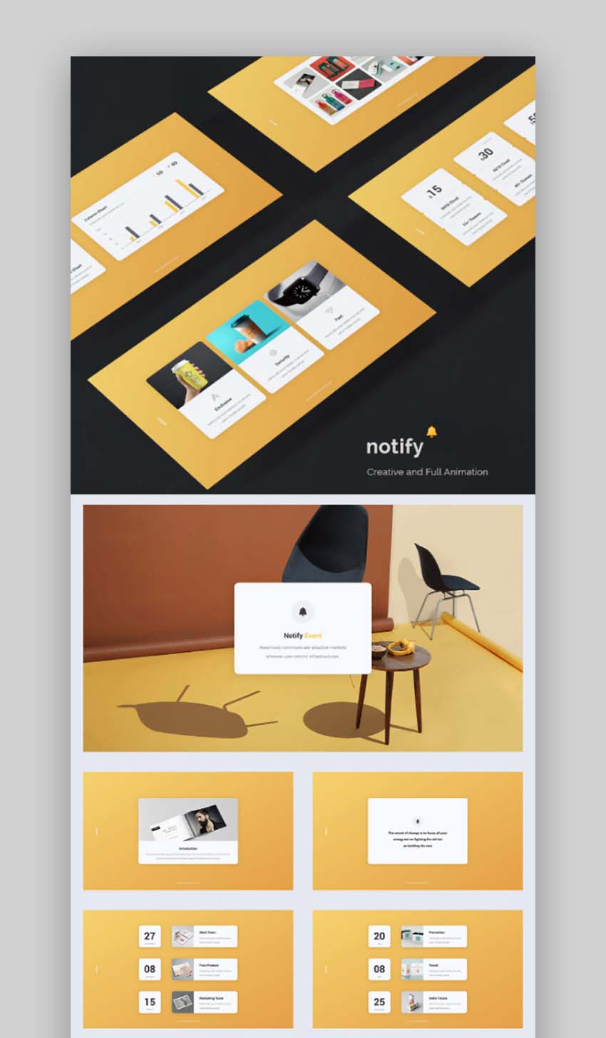 Notify - Animated  Creative Presentation Template