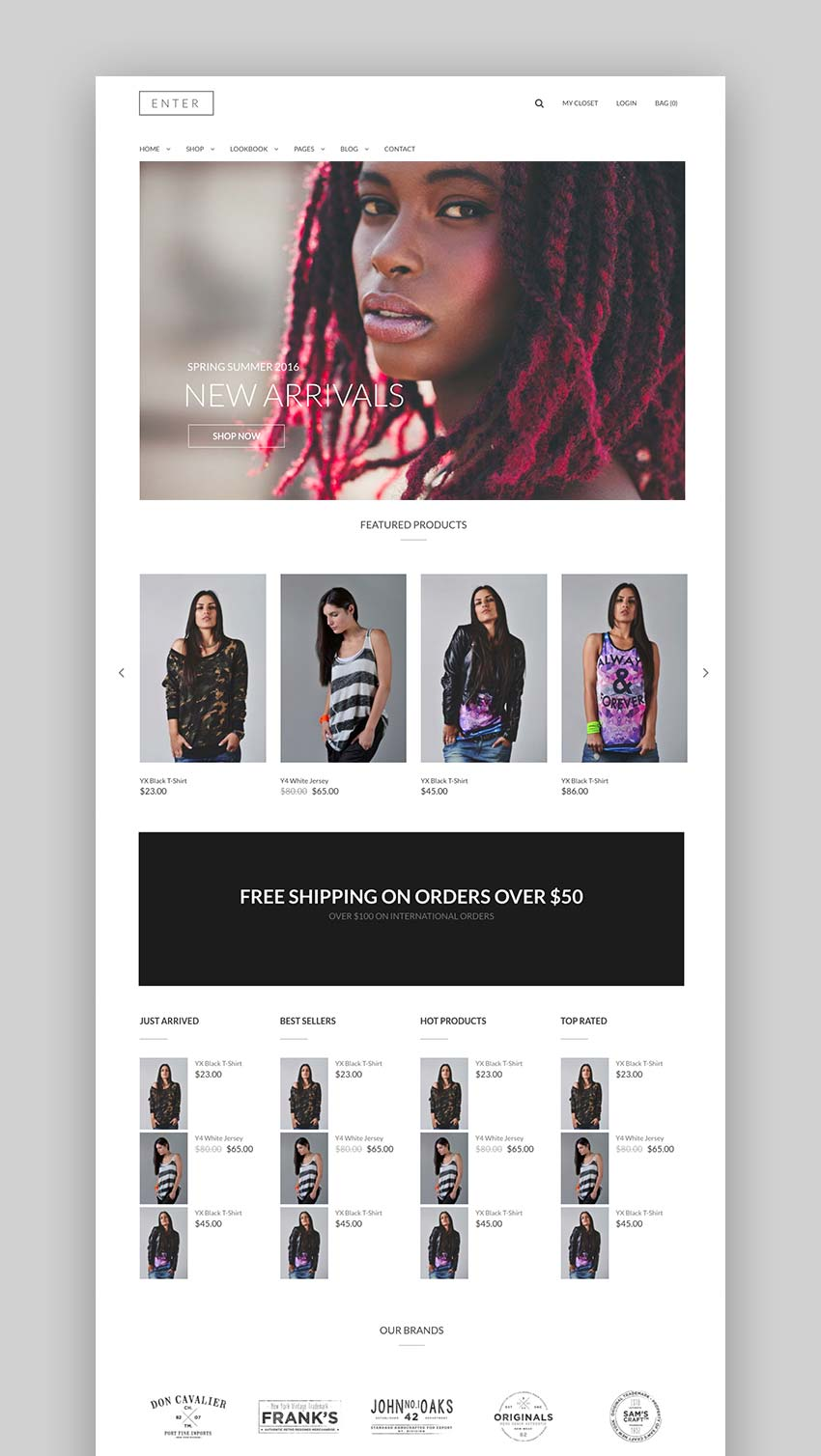 Enter - Fashion  Look Book WooCommerce Theme