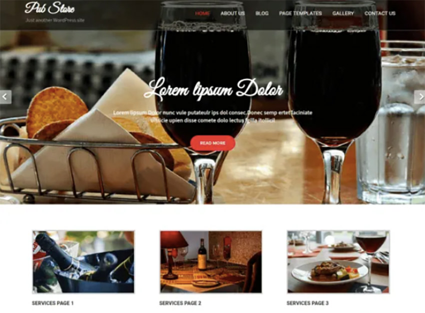 Pub Store Free WordPress Wine Theme