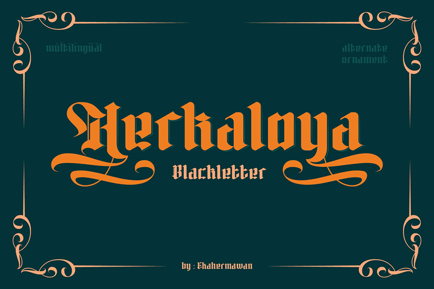 Herkaloya Old English Typeface