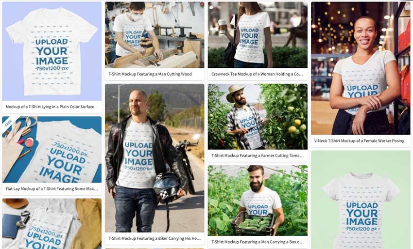 Choose from a wide variety of T-Shirt mockup templates in Placeit
