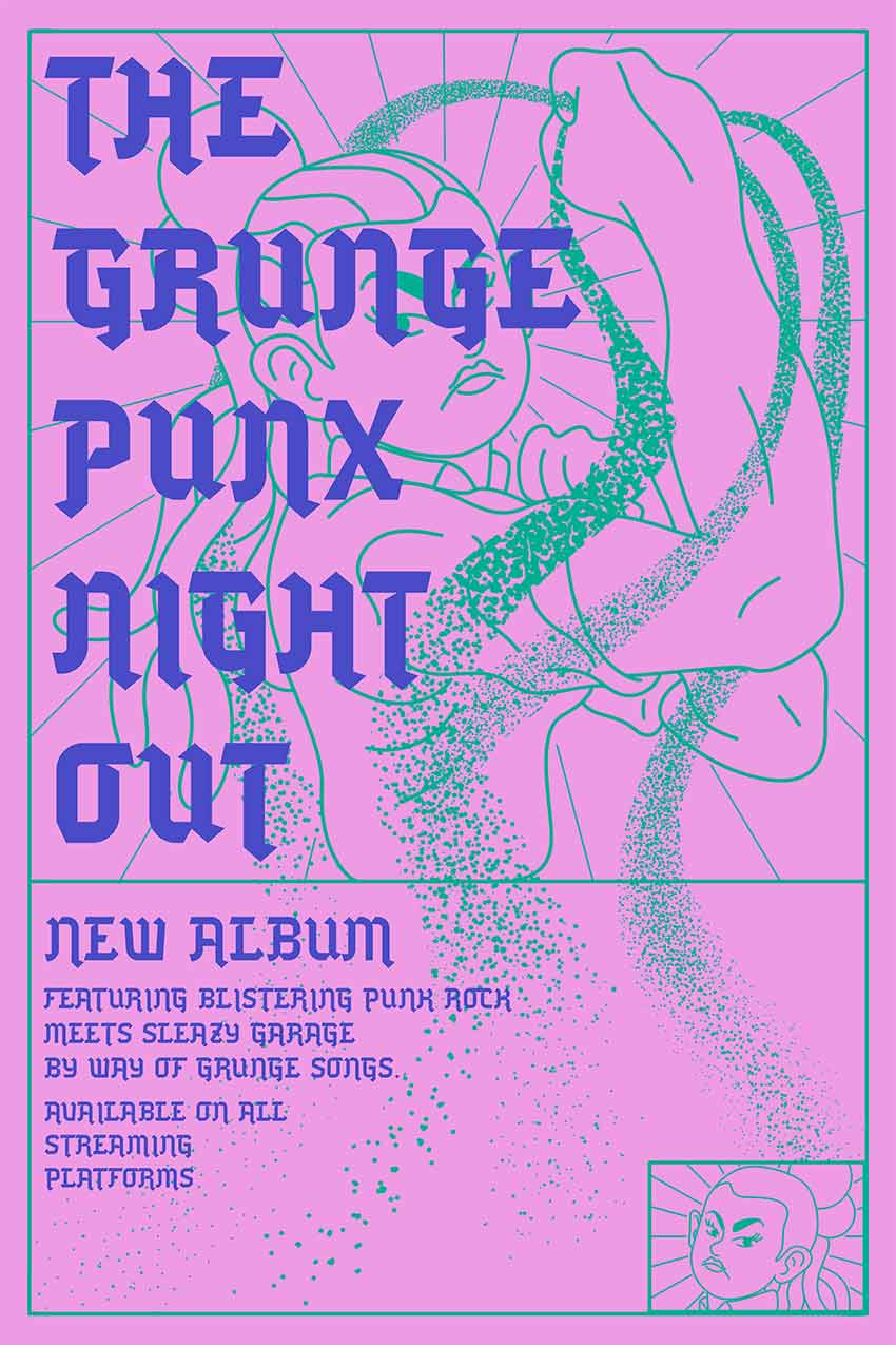 Punk Vibe Grunge Flyer Template