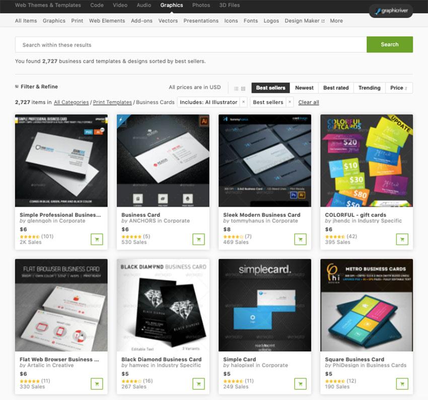 adobe business card templates graphicriver