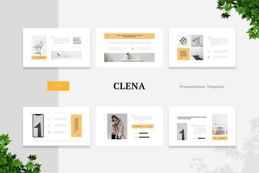 Clena - Clean Minimalism Google Slides Template