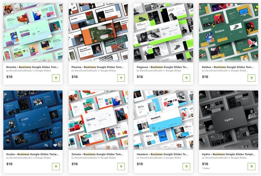 graphic river Google Slides business templates