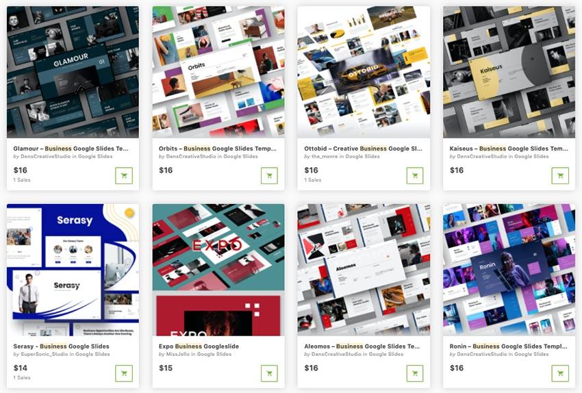 GraphicRiver Google Slides business templates