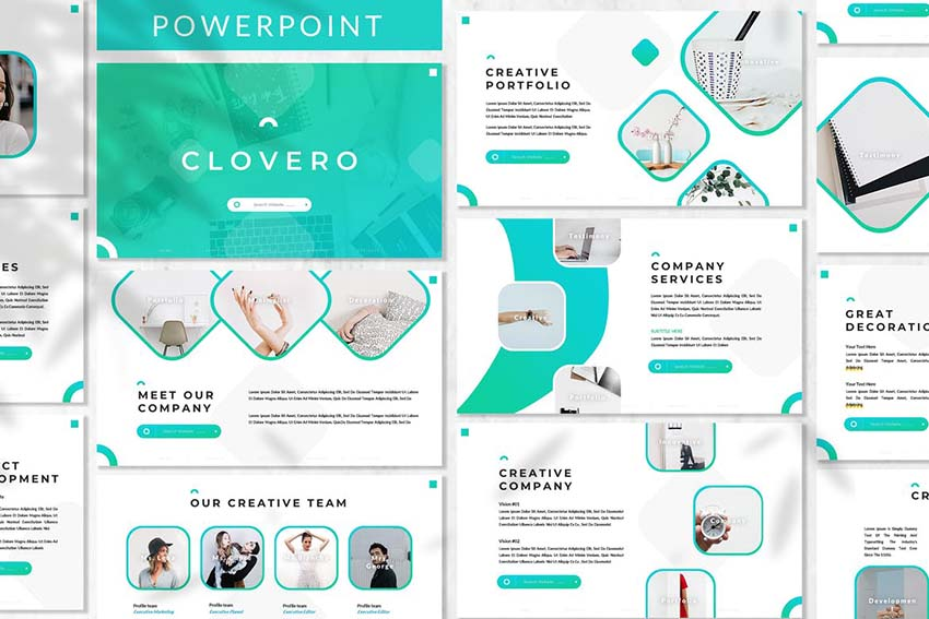 Clovero - Business Powerpoint Template