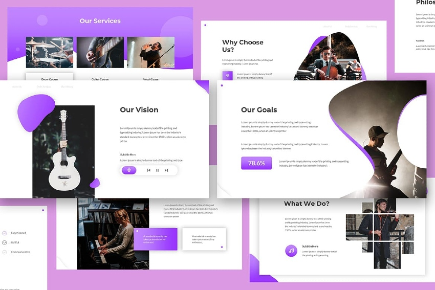 Chordia - Music Powerpoint Template